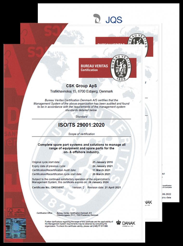 Insemito certificates